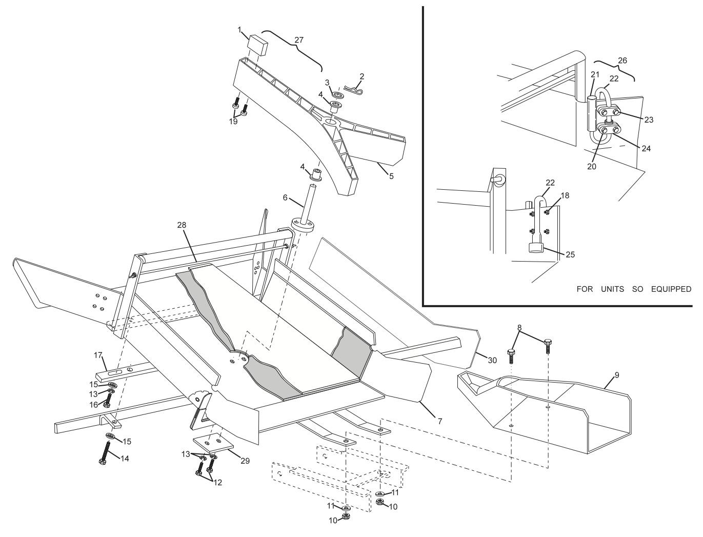 Dual Feed Pin Chute Assembly