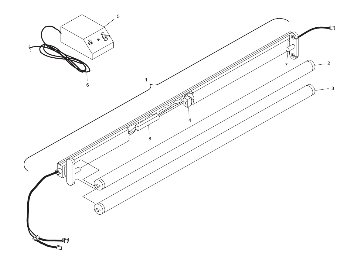 Dual Pin Lamp System (Machine Series 443 and Above)