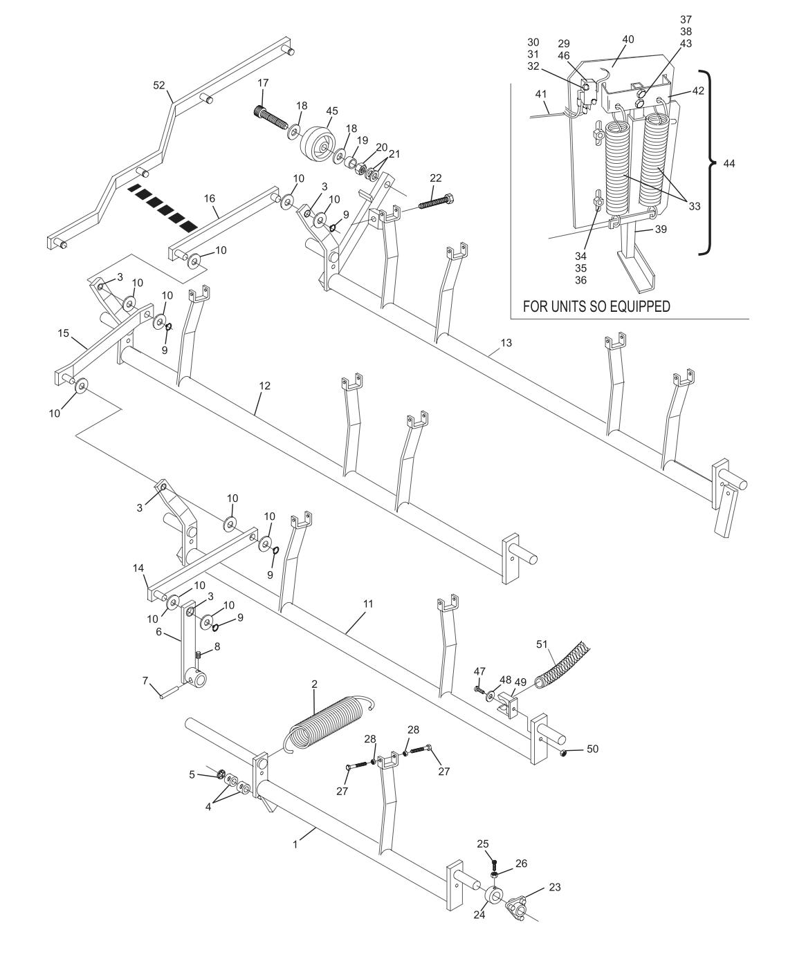 GS-10 - GS-98 Setting Table Swing Shafts
