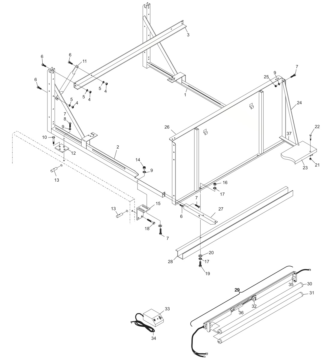 GS-X Frame Assembly (424 and Above)