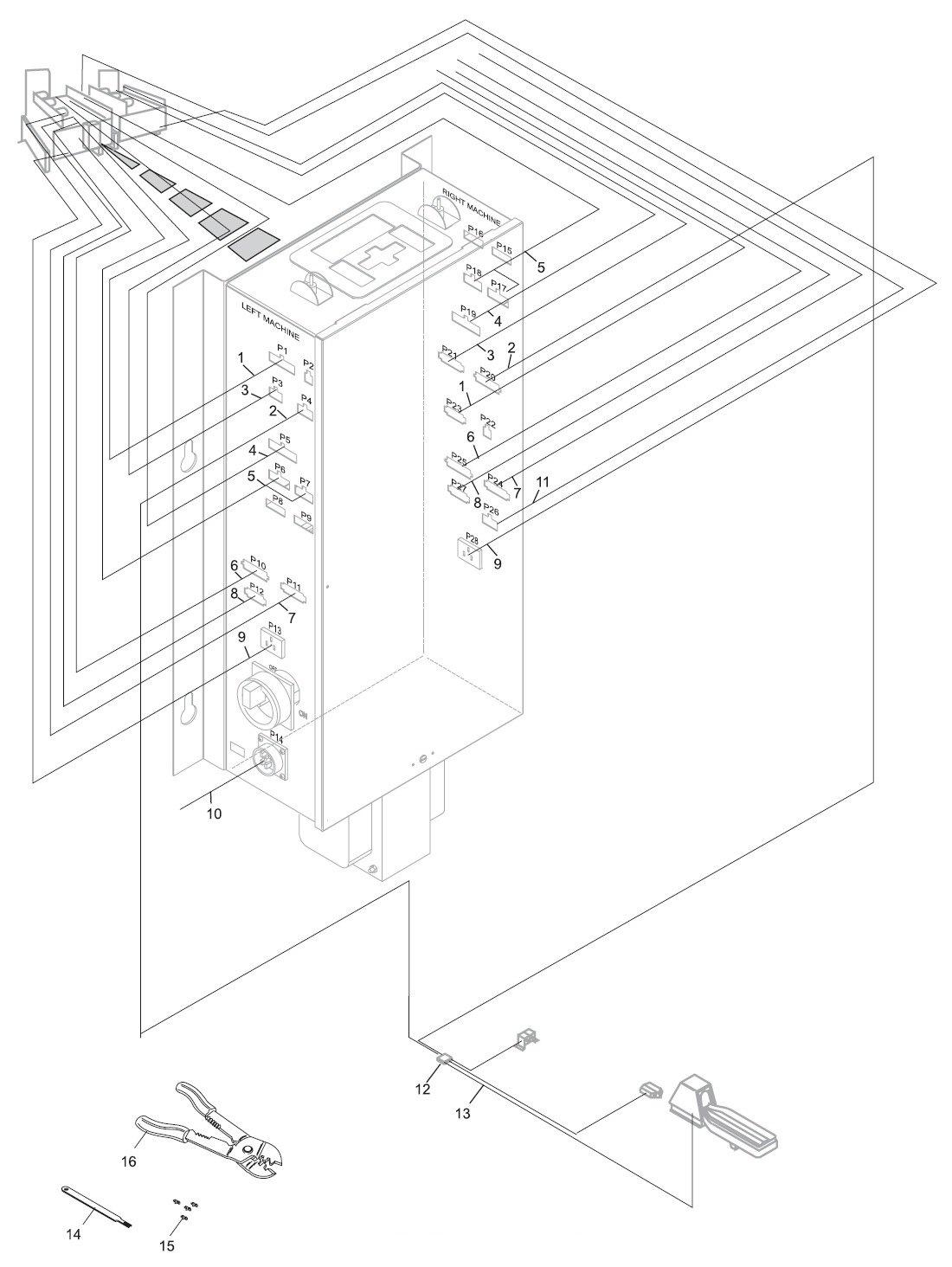 Nexgen Controller Assembly External Cabling