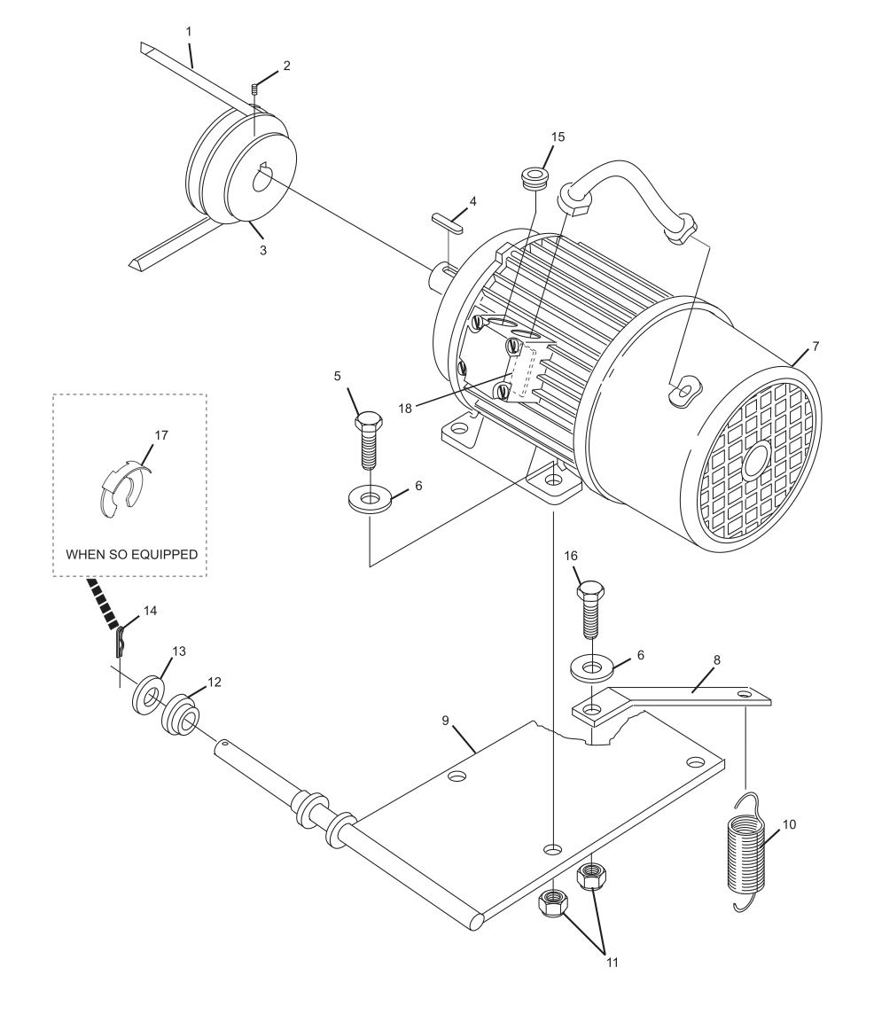 Setting Table Stop Motor and Mount Assembly