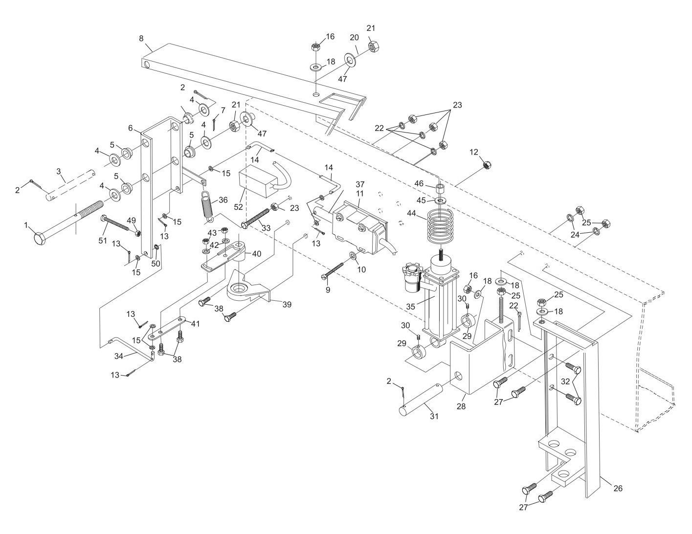Stroke Limiter Assembly - Horizontal Solenoid