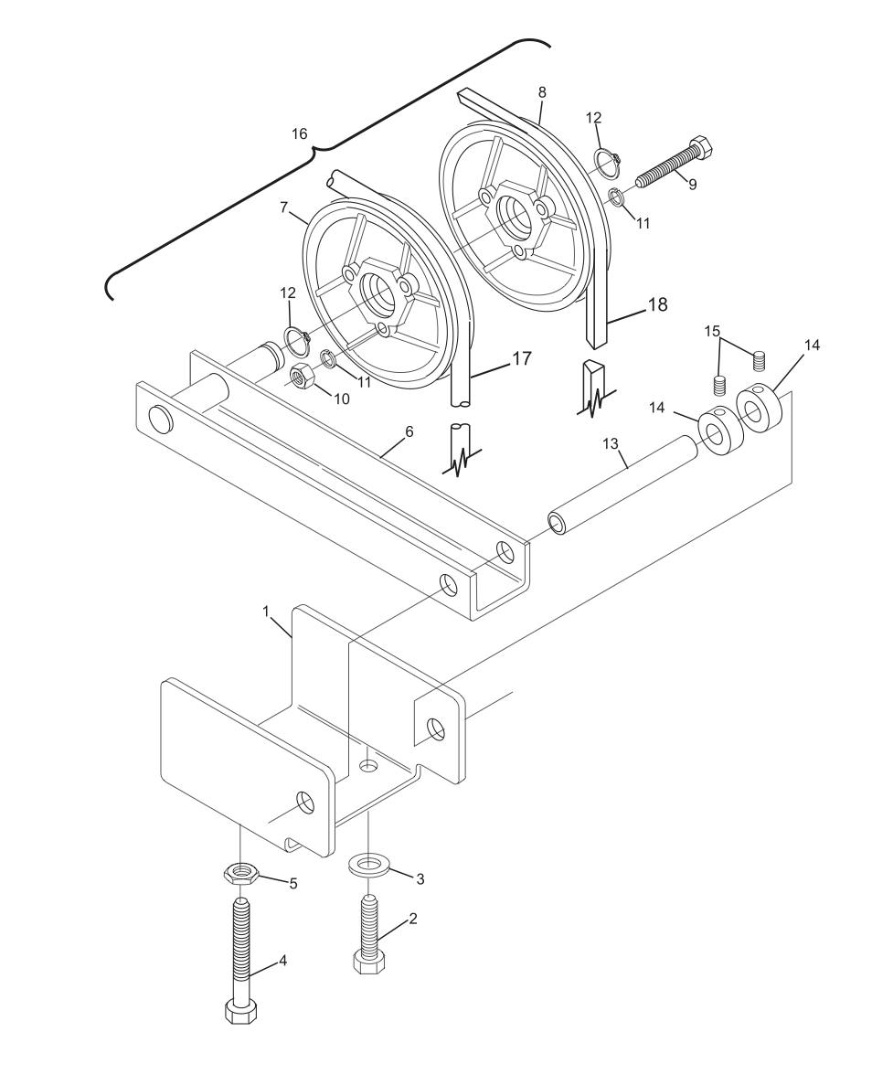 Transport Band Belt Tensioner Assembly - Right Machine Short Pit Machines Series 43 and Above